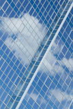 Skyscrapers with clouds reflection Stock Photo