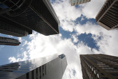 Skyscrapers clouds and sky Royalty Free Stock Image