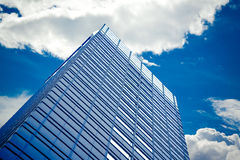 Skyscrapers with clouds Royalty Free Stock Photo