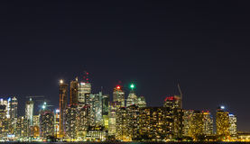 Skyscrapers and Condos at Night in Toronto Royalty Free Stock Images