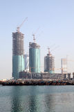 Skyscrapers construction in Manama Royalty Free Stock Image