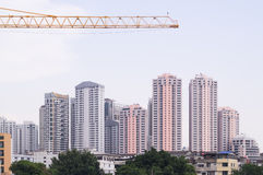 Skyscrapers and construction Stock Photo