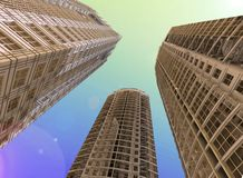 Skyscrapers. 3d abstract modern building Stock Image