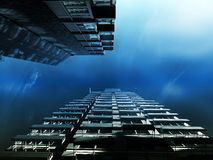 Skyscrapers in deep water Royalty Free Stock Images