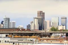 Skyscrapers in Denver downtown, Colorado Stock Image