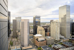 Skyscrapers in Denver downtown, Colorado Stock Images