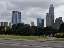 Skyscrapers of downtown Austin TX Stock Images