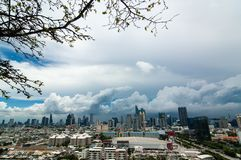 Skyscraper, downtown, Bangkok cityscapes, rain cloud, Thailand. The skyscrapers in downtown Bangkok cityscapes, the capital of Thailand in southeast Asia, with stock photos