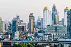 Skyscrapers - Downtown, Bangkok, Thailand Royalty Free Stock Images