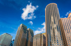 Skyscrapers in downtown Boston, Massachusetts. Stock Image