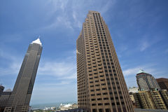Skyscrapers in Downtown Cleveland Stock Photos