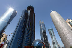 Skyscrapers downtown in Doha Stock Photography