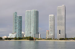 Skyscrapers in Downtown Miami Stock Photography