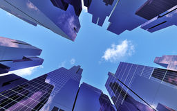 Skyscrapers in downtown Royalty Free Stock Images