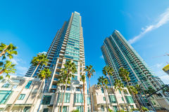 Skyscrapers in downtown San Diego. California royalty free stock photography