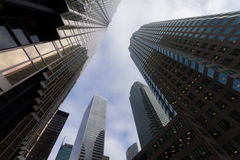 Skyscrapers in Downtown Toronto, Financial district. Royalty Free Stock Images