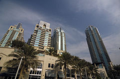 Skyscrapers in Dubai. Marina Residence. Dubai, United Arabic Emirates Stock Photography