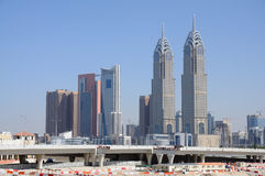 Skyscrapers in Dubai City Royalty Free Stock Photography