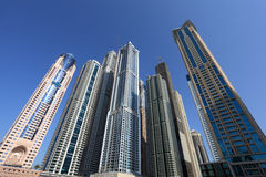 Skyscrapers in Dubai Marina Royalty Free Stock Image