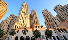 Skyscrapers of Dubai Marina, UAE Stock Photography