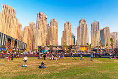 Skyscrapers of Dubai Marina Royalty Free Stock Image