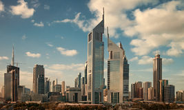 Skyscrapers of Dubai Skyline Stock Photography