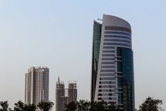 Skyscrapers from Dubai, UAE royalty free stock photo