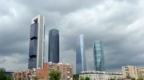 Skyscrapers in financial center, Madrid, Spain Stock Images
