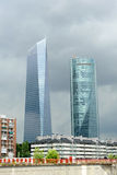 Skyscrapers in financial center, Madrid, Spain Stock Photo
