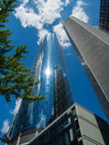 Skyscrapers in the financial district of Frankfurt, Germany Stock Photography