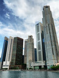 Skyscrapers in financial district of Singapore Royalty Free Stock Images