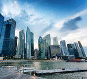 Skyscrapers in financial district of Singapore Stock Photography