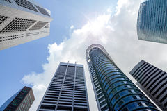 Skyscrapers in the Financial District of Singapore Royalty Free Stock Photo