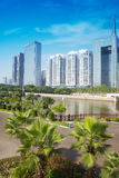 Skyscrapers of financial district in Zhujiang New Town Stock Photo