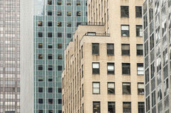 Skyscrapers forming abstract geometric shapes in New York. City Stock Image