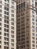 Skyscrapers forming abstract geometric shapes in New York. Concrete building forming geometric shapes in New York City Stock Photo