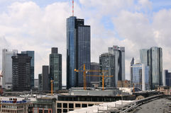 Skyscrapers of Frankfurt Royalty Free Stock Photos