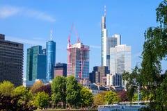 Skyscrapers in Frankfurt Stock Photo