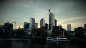 Skyscrapers  in Frankfurt Germany Architecture panorama Stock Photos