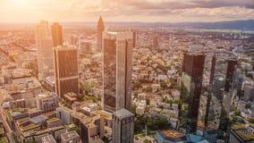 Skyscrapers in Frankfurt am Main, Hessen, Germany Stock Image