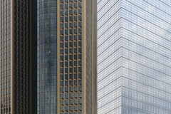 Skyscrapers in Frankfurt. The photo can serve as an illustration to idea of a business life Royalty Free Stock Photography