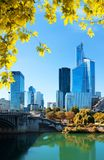 Paris business district in autumn Royalty Free Stock Images