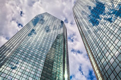 Skyscrapers with glass facades Stock Images