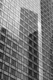 Skyscrapers glass facades in Paris business center La Defense. Urban architecture, modern office buildings. Abstract. Skyscrapers glass facades in Paris business Stock Image