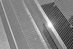 Skyscrapers glass facades in Paris business center La Defense. Urban architecture, modern office buildings. Abstract. Skyscrapers glass facades in Paris business Stock Photo