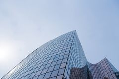 Skyscrapers glass facades in Paris business center La Defense. Urban architecture, modern office buildings. Abstract. Background with sky reflection. City life Stock Photography
