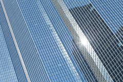Skyscrapers glass facades in Paris business center La Defense. Urban architecture, modern office buildings. Abstract Royalty Free Stock Photos