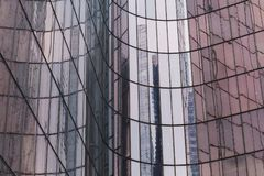 Skyscrapers glass facades in Paris business center La Defense. Urban architecture, modern office buildings. Abstract Royalty Free Stock Photo