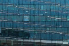 Skyscrapers glass facades in Paris business center La Defense. Urban architecture, modern office buildings. Abstract Royalty Free Stock Photography
