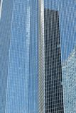 Skyscrapers glass facades in Paris business center La Defense. Urban architecture, modern office buildings. Abstract. Background with sky reflection. City life Stock Photos